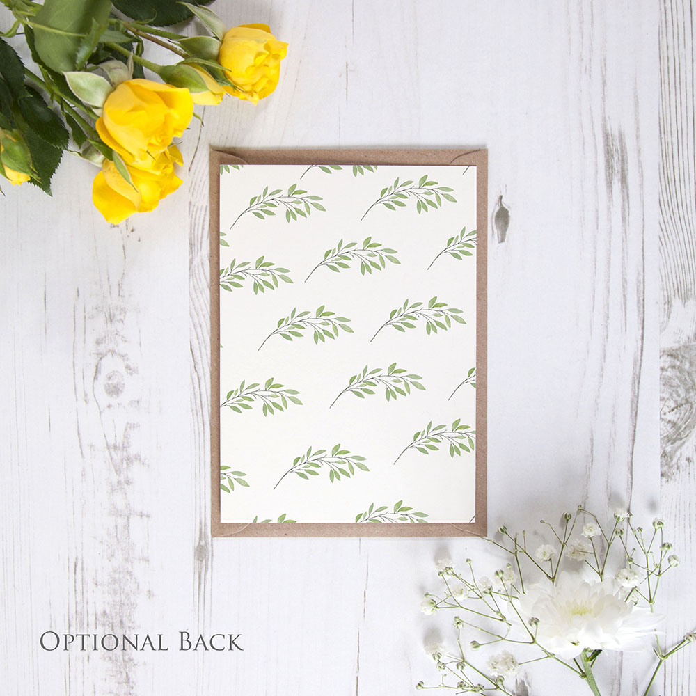 'Autumn Green' Change the Date - Postponed Card