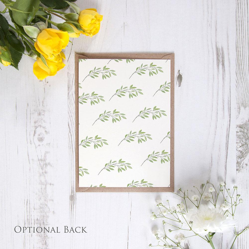 'Autumn Green' Standard Invite Sample