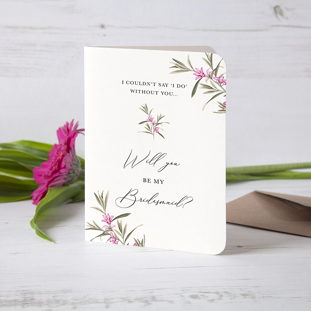 'Pink Botanical' Will you be my...