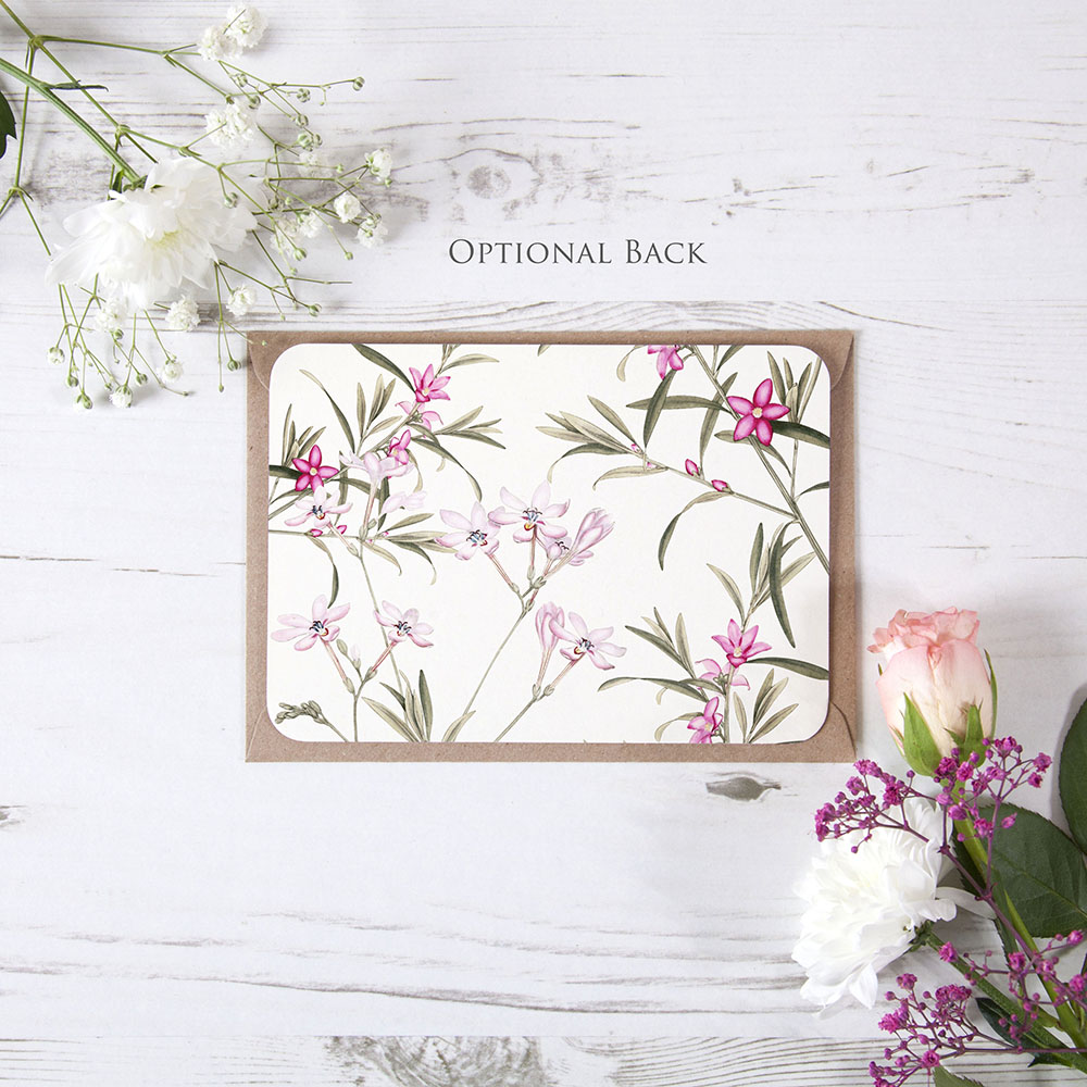 'Pink Botanical PB11' Change the Date Sample Card