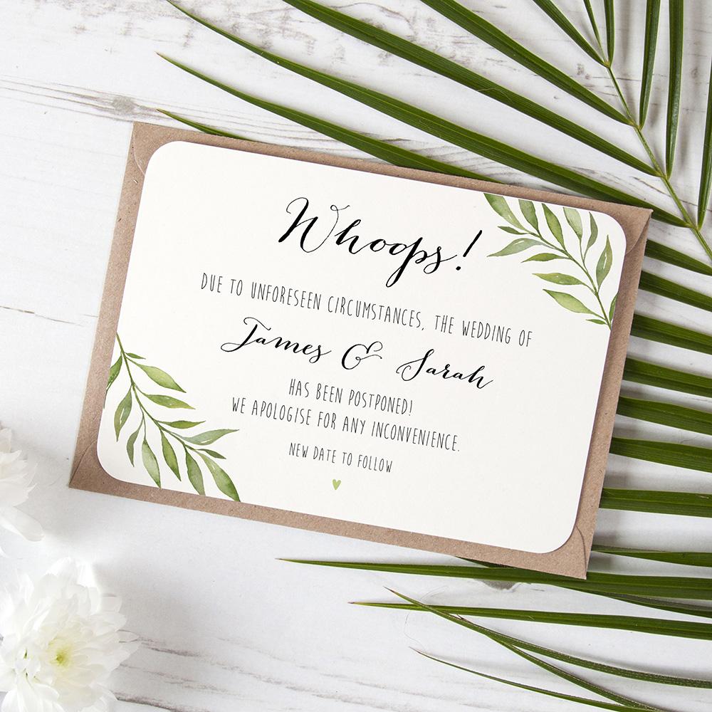 'Green Leaf' Change the Date Sample Card