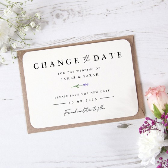'Lavender L11' Change the Date Sample Card