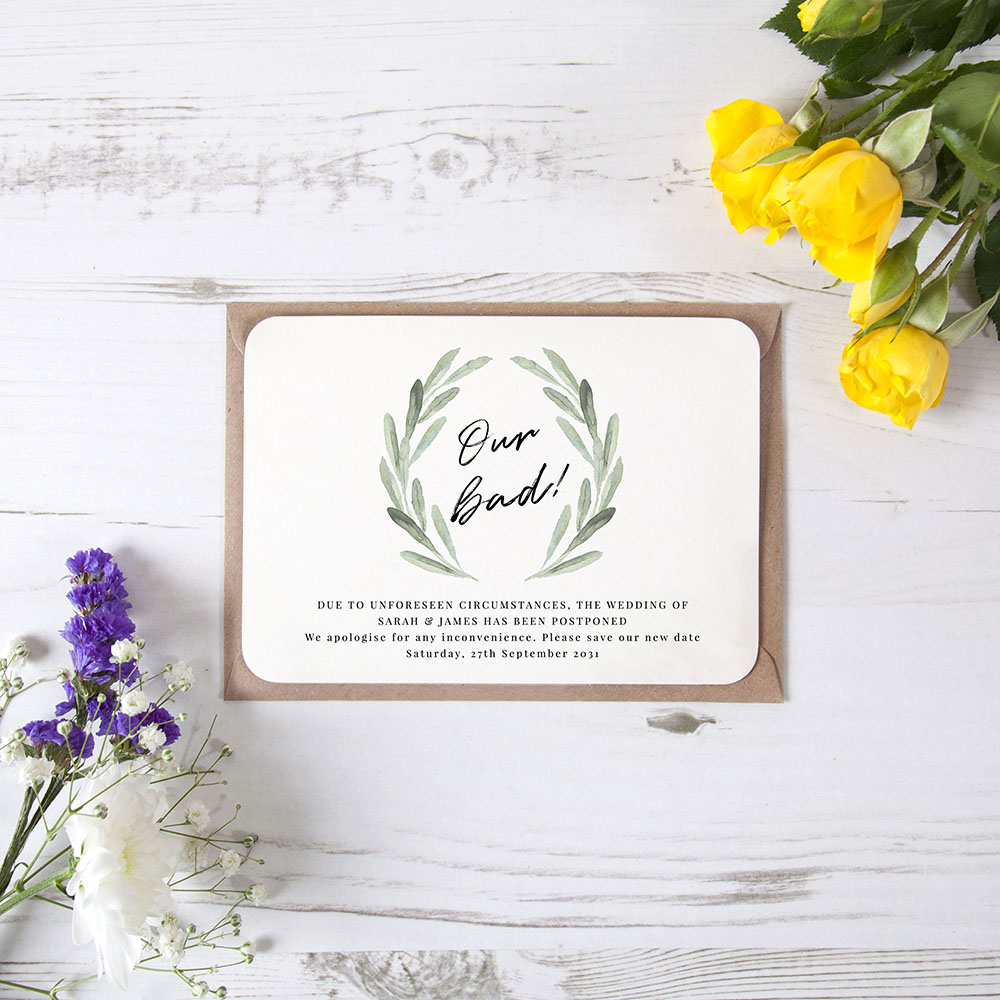 'Olive' Change the Date Sample Card