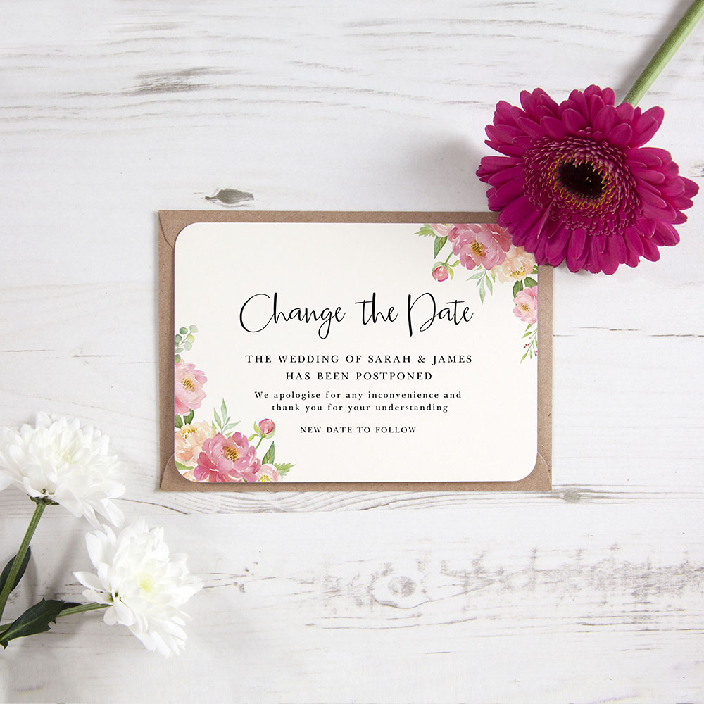 'Peony' Change the Date Sample Card