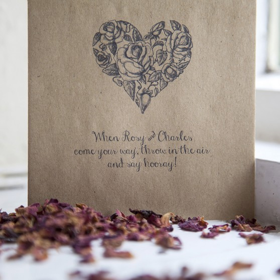 'Heart' Confetti Envelopes