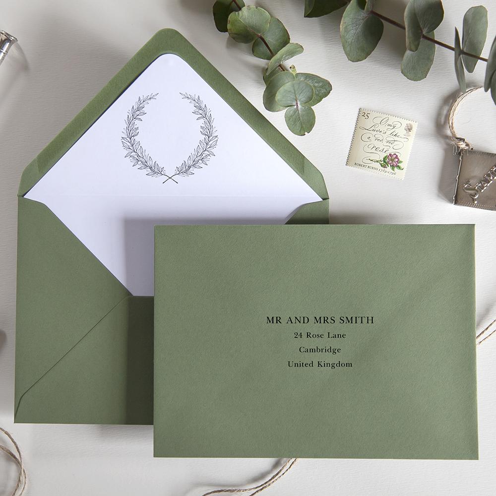 'Alice' Pocketfold Wedding Invitation