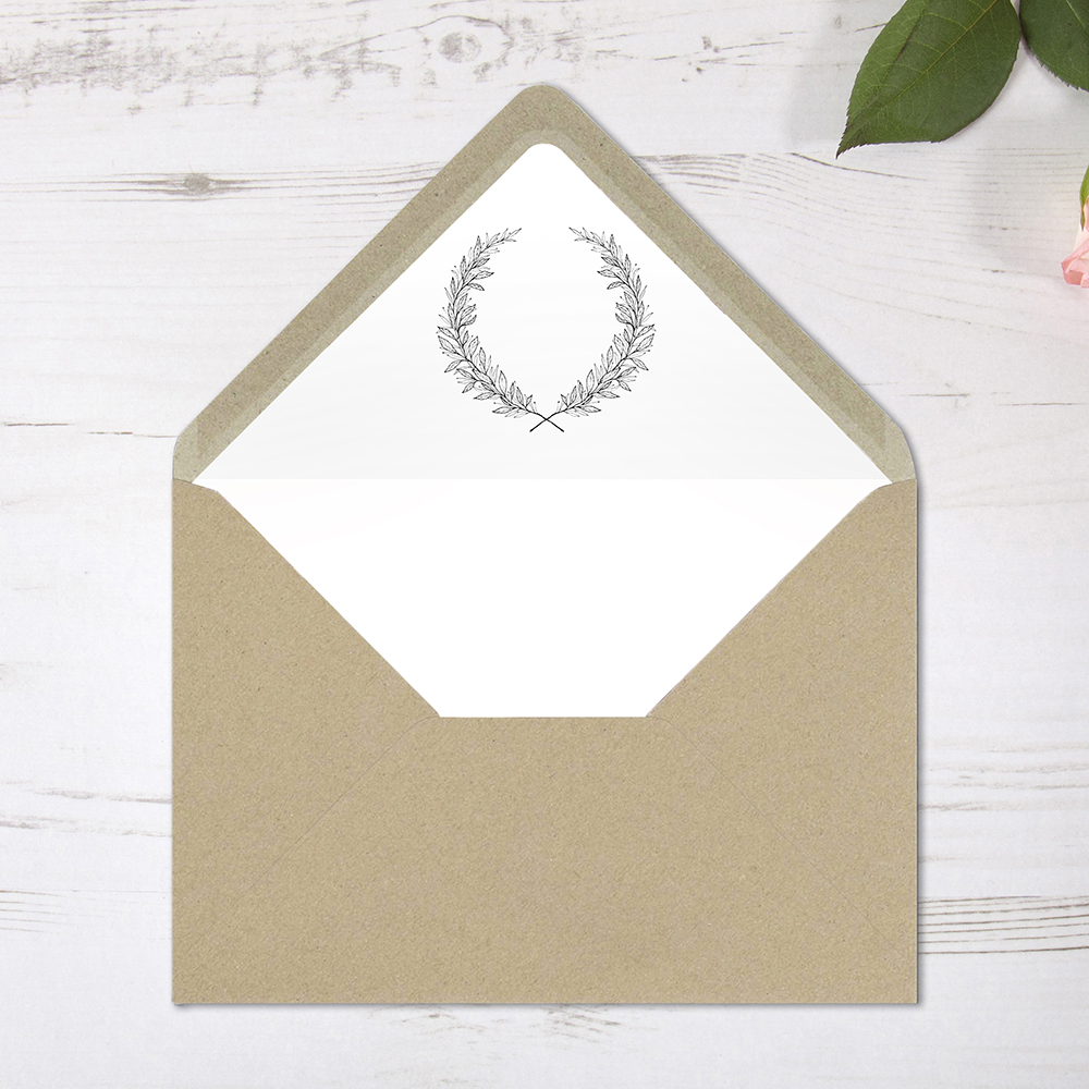 'Alice' Printed Envelope Liner Sample with Envelope