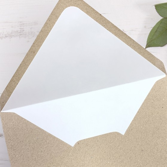'Any Design' Printed Envelope Liner with Envelope