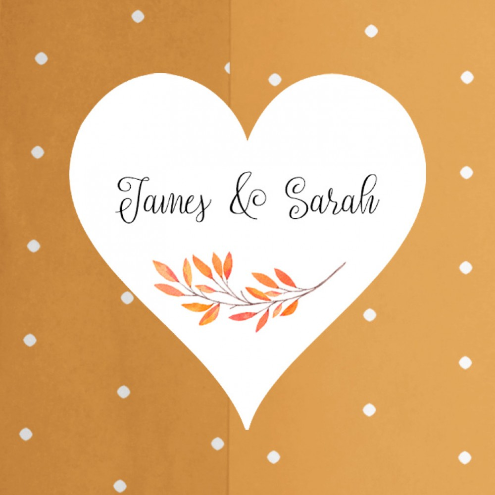 'Autumn Orange' Hole-punched Save the Date