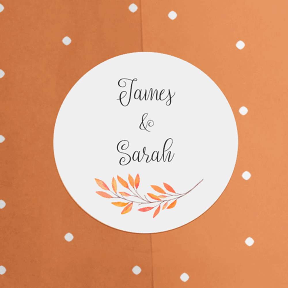 'Autumn Orange' Printed Envelope Liner with Envelope