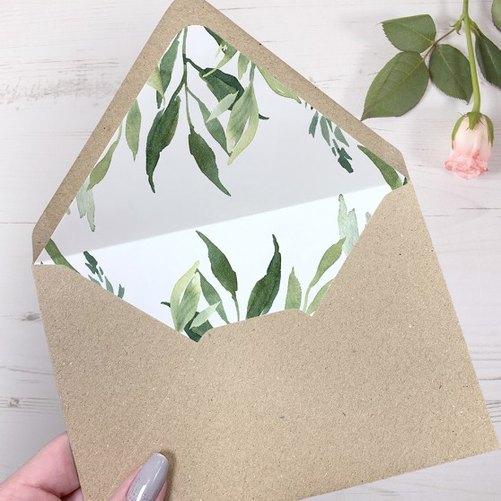 'Back to Nature' Printed Envelope Liner with Envelope