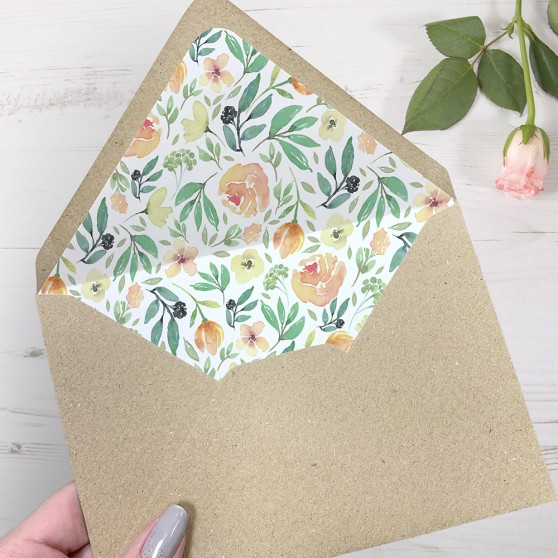 'Bella' Printed Envelope Liner with Envelope