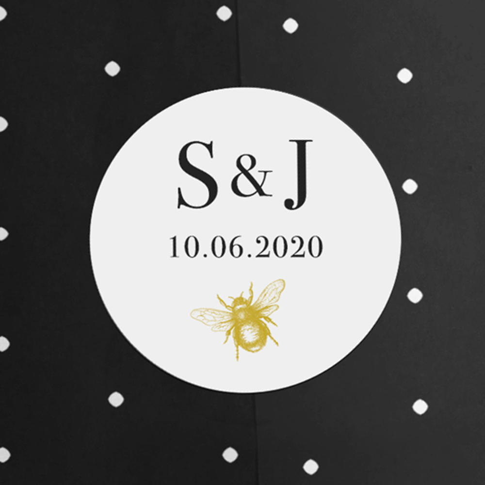 'Bumble Bee' Square Invite Sample