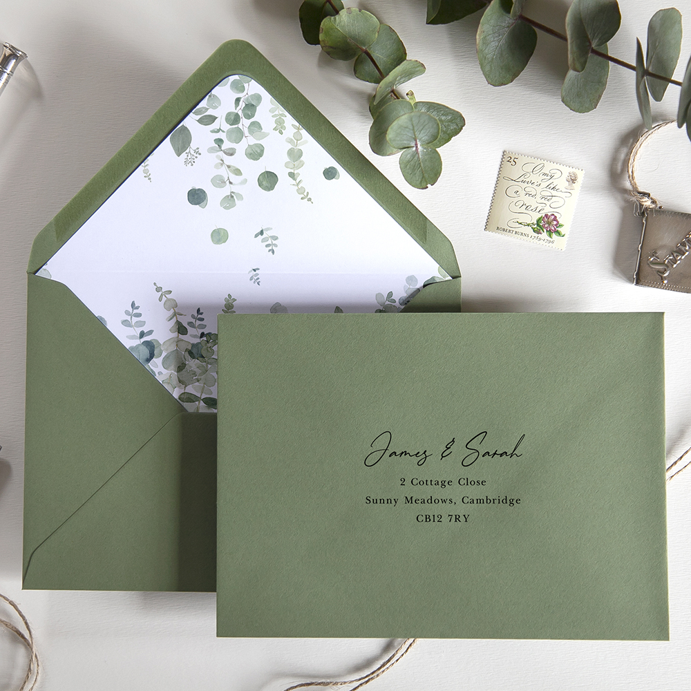 'Classic Eucalyptus CE14' Hole-Punched Will You Be My… Cards