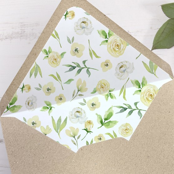 'Daphne' Printed Envelope Liner with Envelope