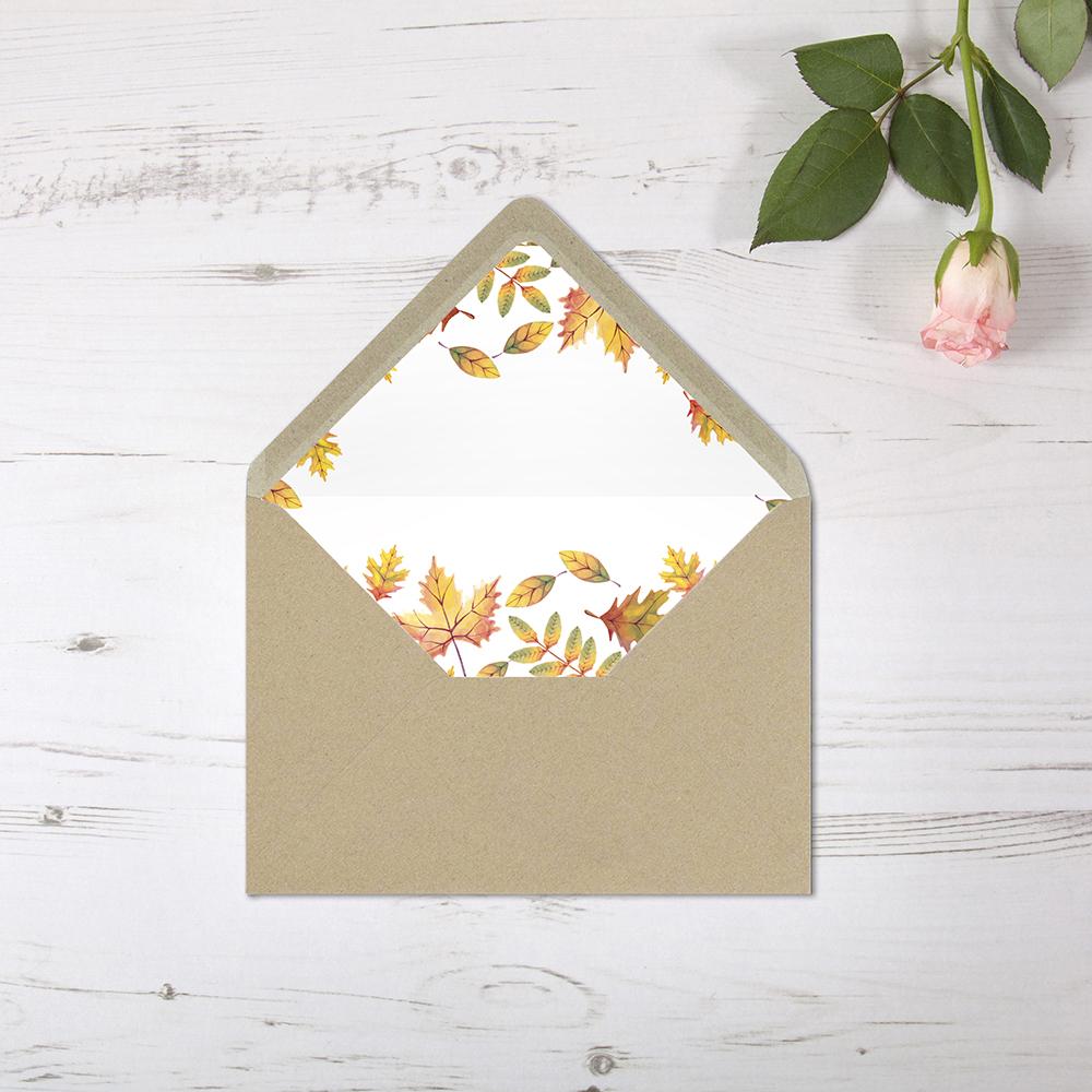 'Dorothy' Printed Envelope Liner Sample with Envelope