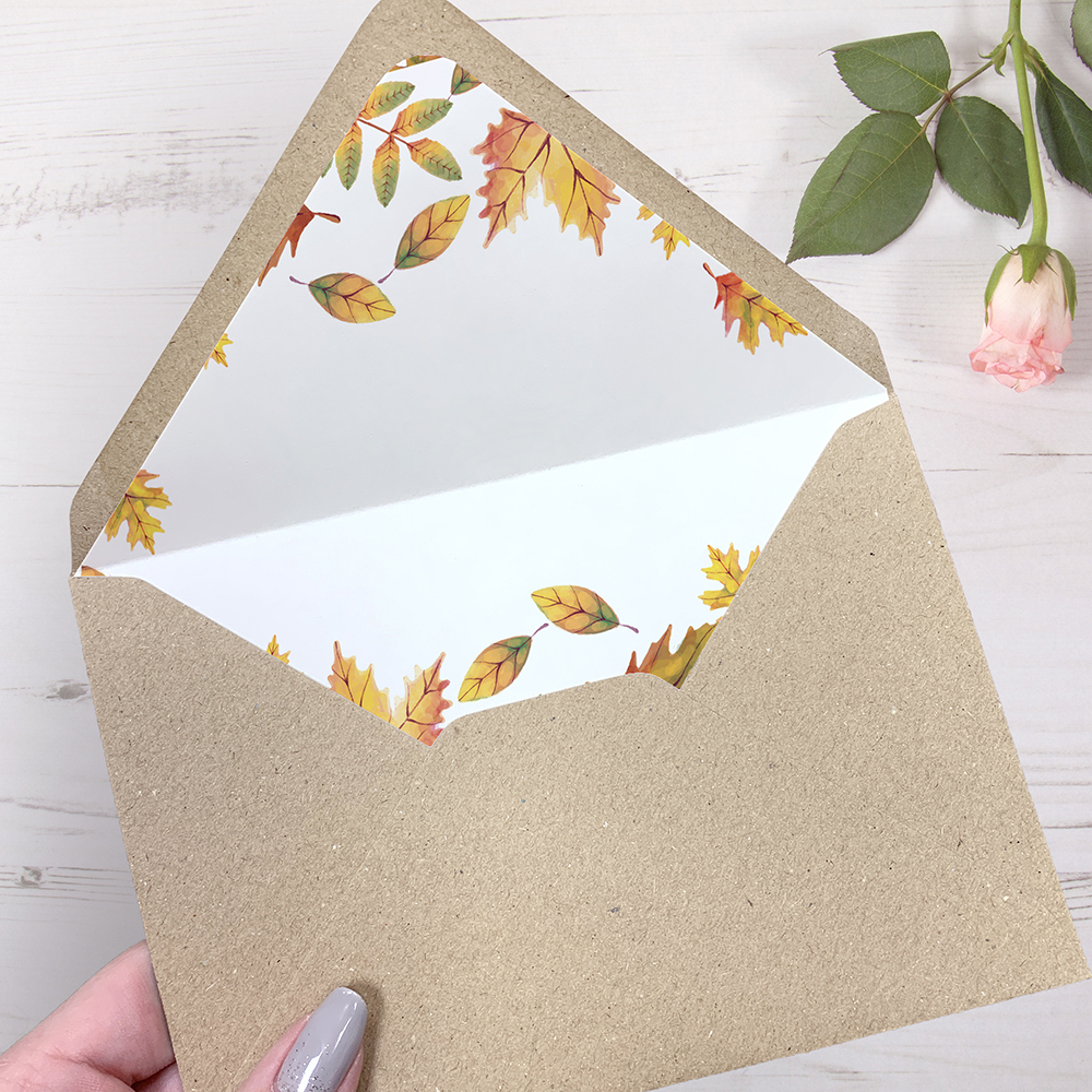 'Dorothy' Printed Envelope Liner with Envelope