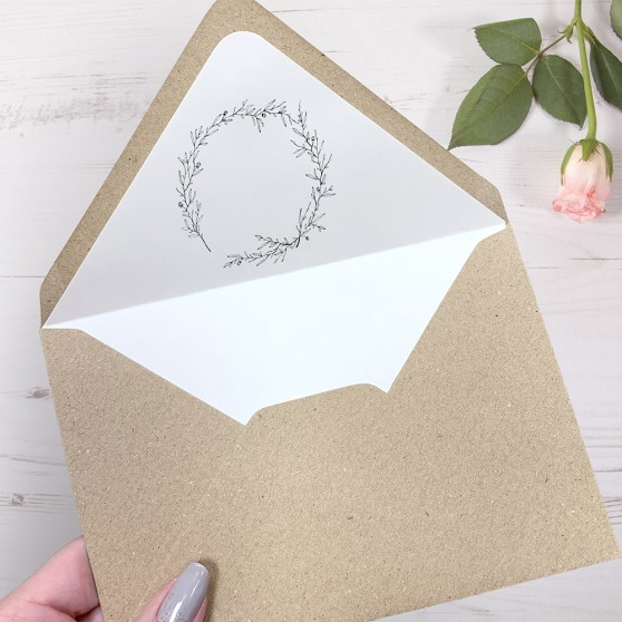 'Elizabeth' Printed Envelope Liner with Envelope