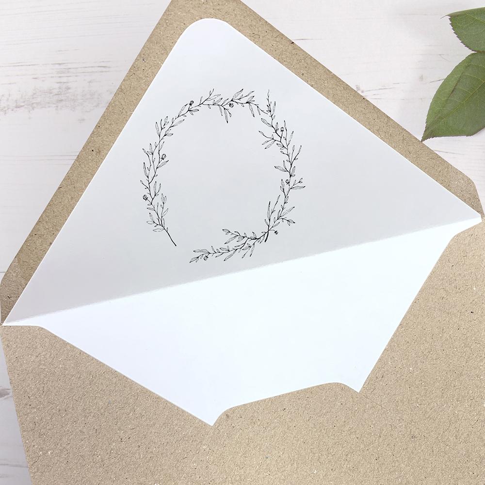 'Elizabeth' Printed Envelope Liner with Envelope