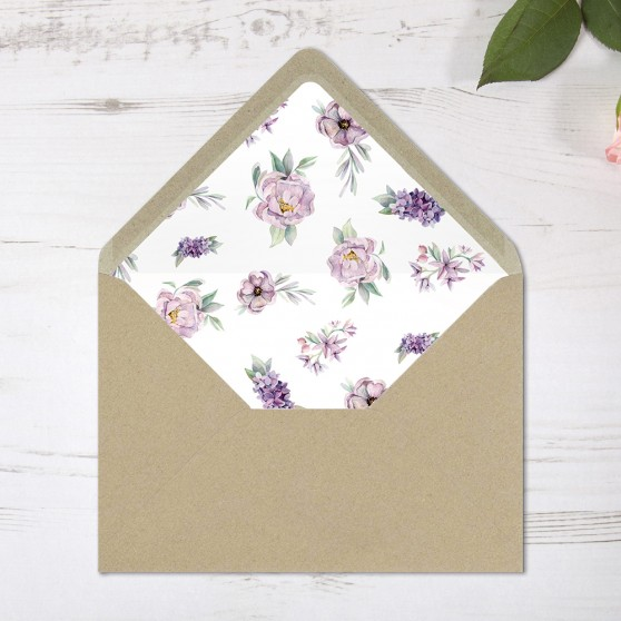 'Henrietta Dawn' Printed Envelope Liner with Envelope