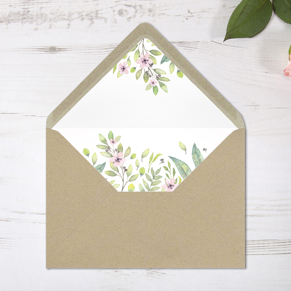 'Imogen Floral' Printed Envelope Liner Sample with Envelope