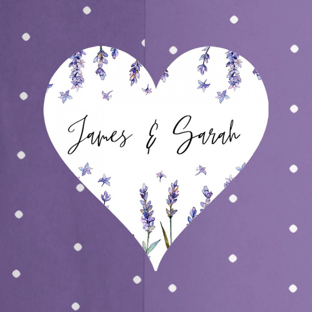 'Lavender' Printed Gatefold Wedding Invitation