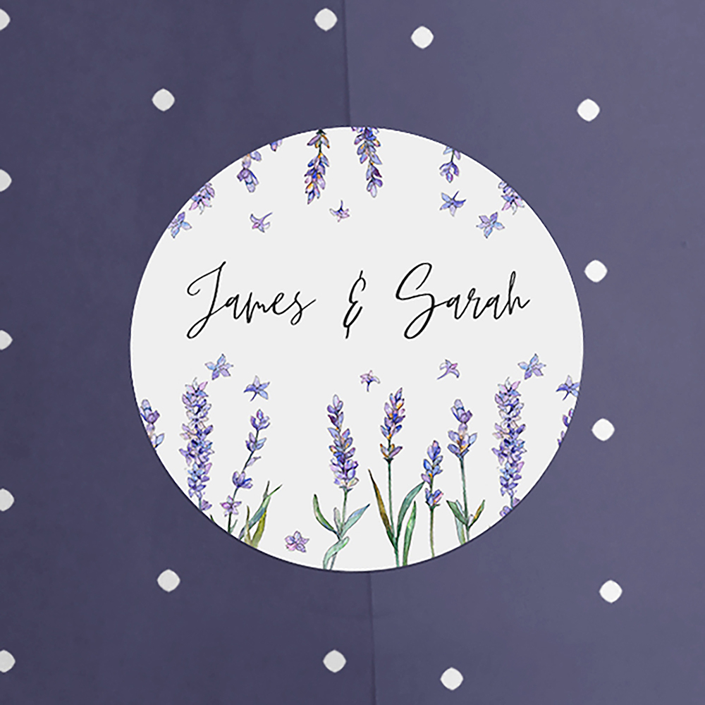 'Lavender' Hole-punched Invite Sample