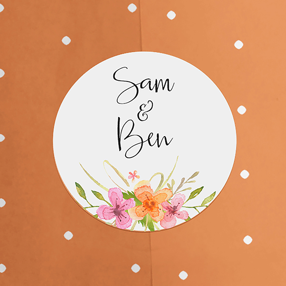 'Multi Floral Watercolour' Standard Invite Sample
