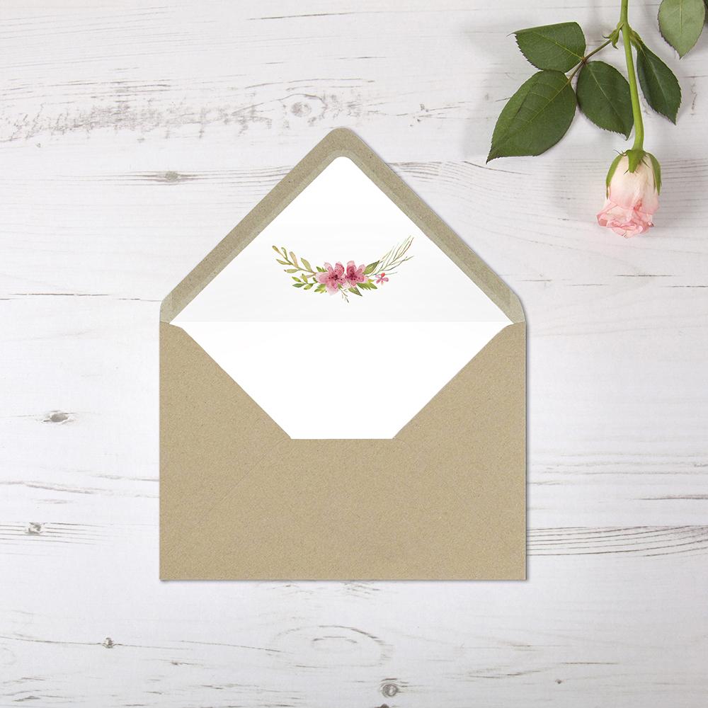 'Multi Floral' Printed Envelope Liner with Envelope