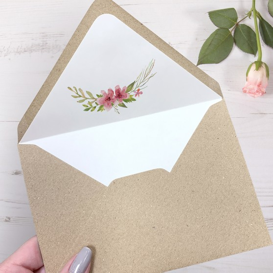 'Multi Floral' Printed Envelope Liner with Envelope