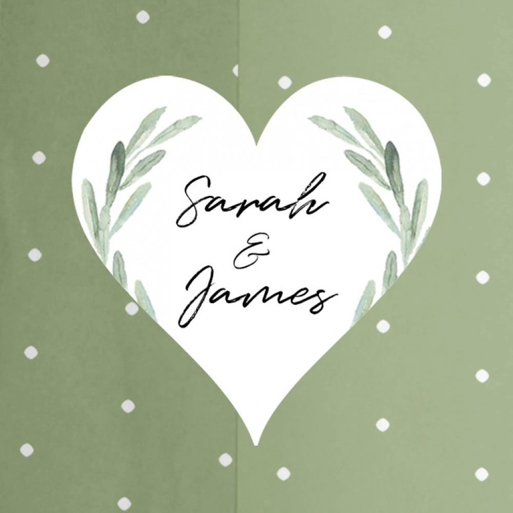 'Olive' Tri Fold Wedding Invitation