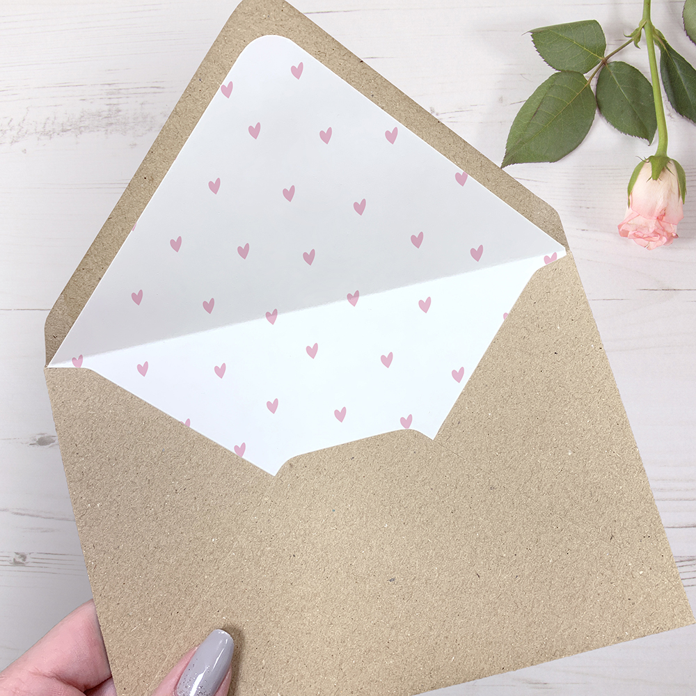 'Pink Heart Bunting' Change the Date Sample Card