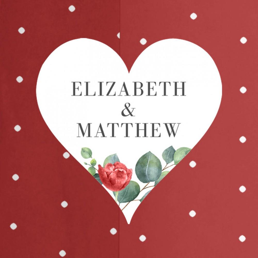 'Red Eucalyptus' Printed Envelope Liner with Envelope