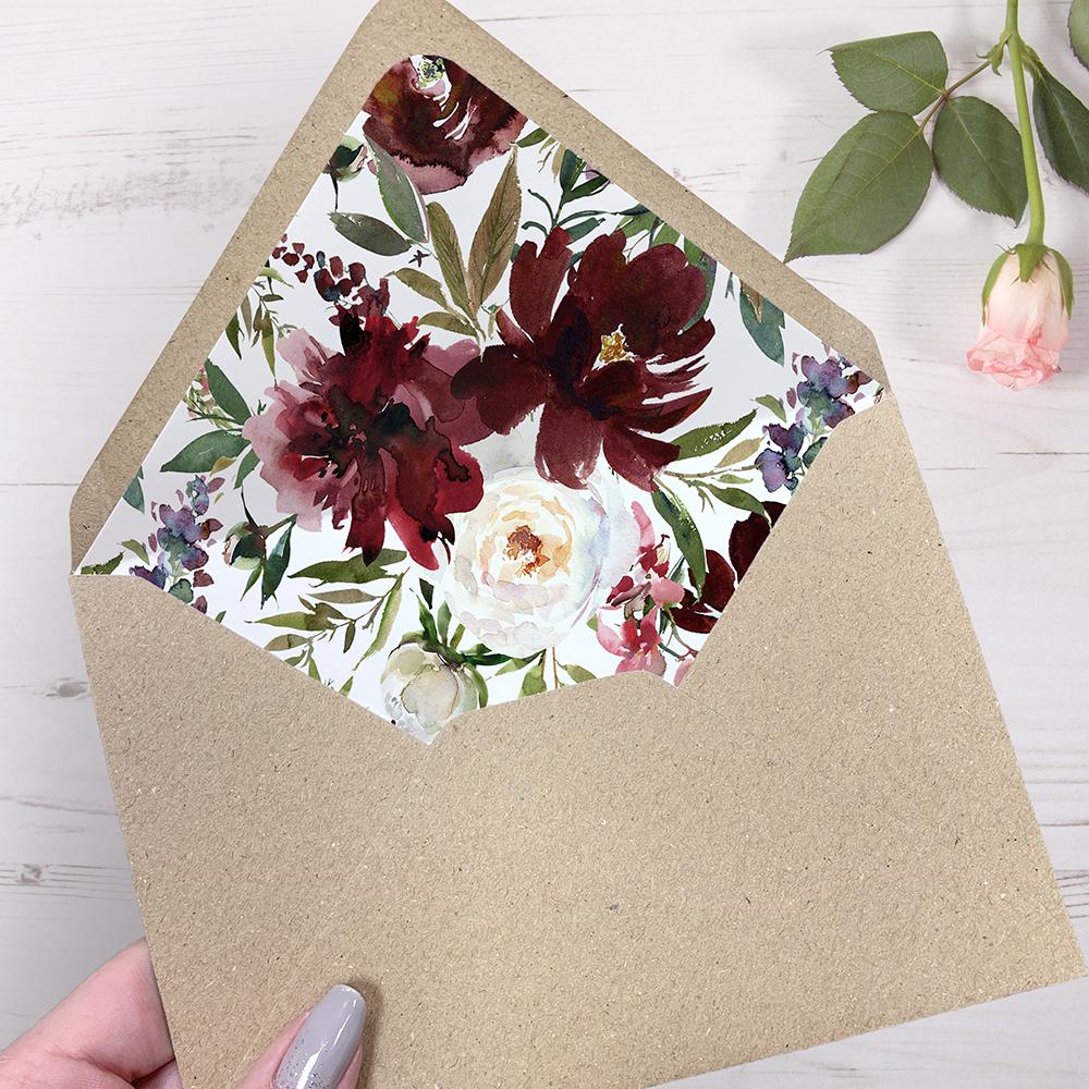 'Red Velvet' Folded Foil Invite Sample