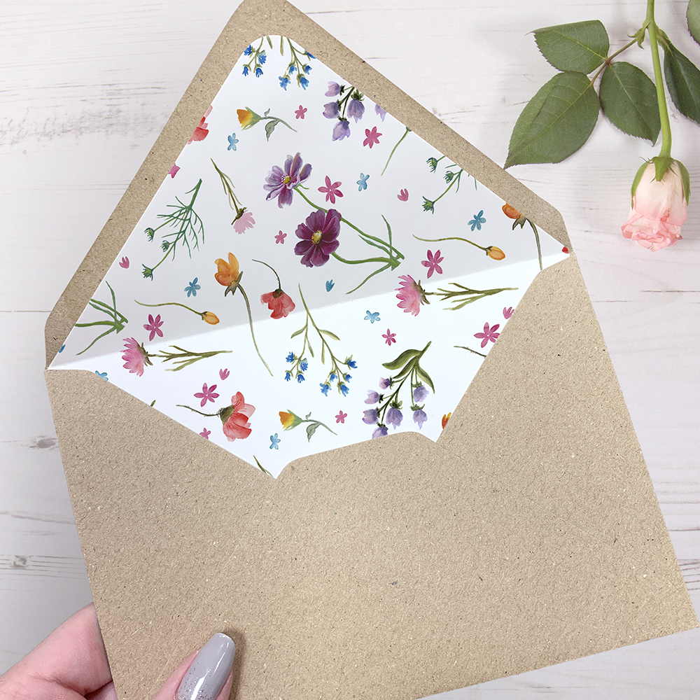 'Wild Floral' Sleeve Invite