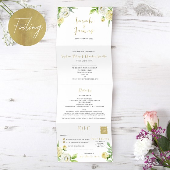 'Daphne' Folded Foil Invite