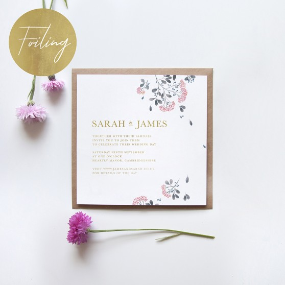 'Felicity' Square Foil Invitation