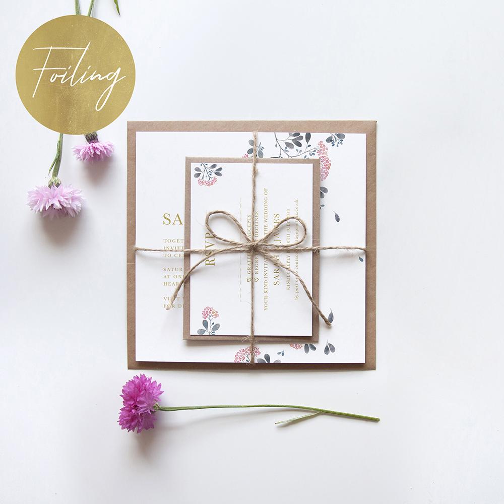 'Felicity' Square Foil Invitation