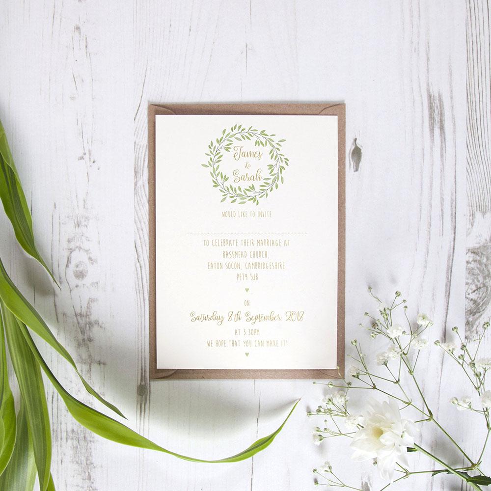 'Autumn Green' Standard Foil Invite