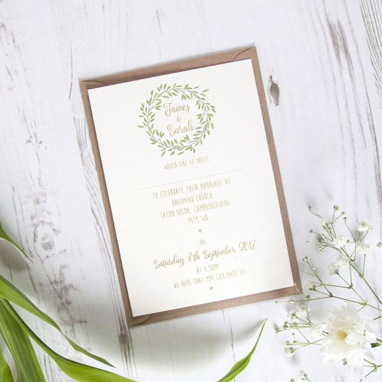 'Autumn Green' Standard Foil Invite