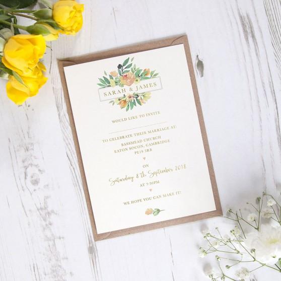 'Bella' Standard Foil Invite