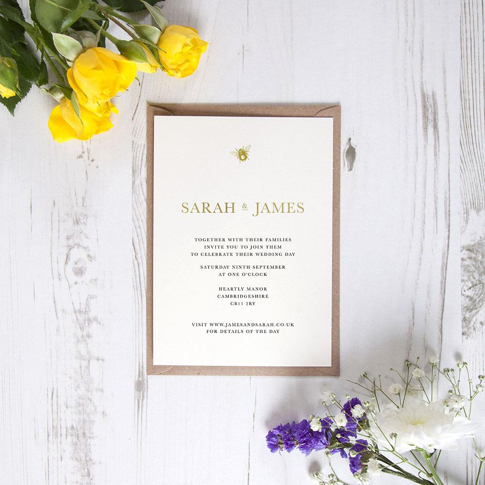 'Bumble Bee' Standard Foil Invite