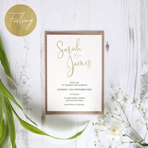 Standard Foil Invite Samples
