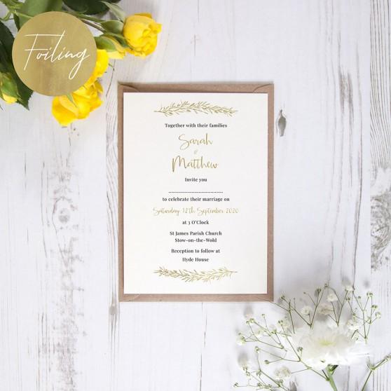 'Charlotte' Standard Foil Invite