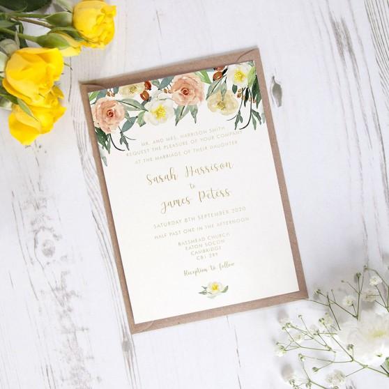'Dahlia Rose' Standard Foil Invite