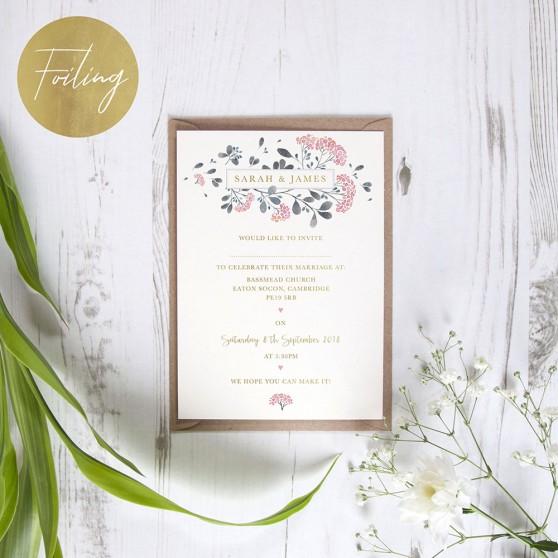 'Felicity' Standard Foil Invite