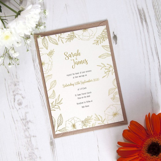 'Freya' Standard Foil Invite