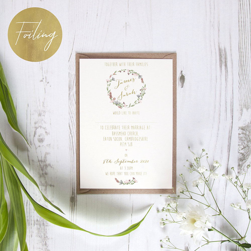'Genevieve' Standard Foil Invite