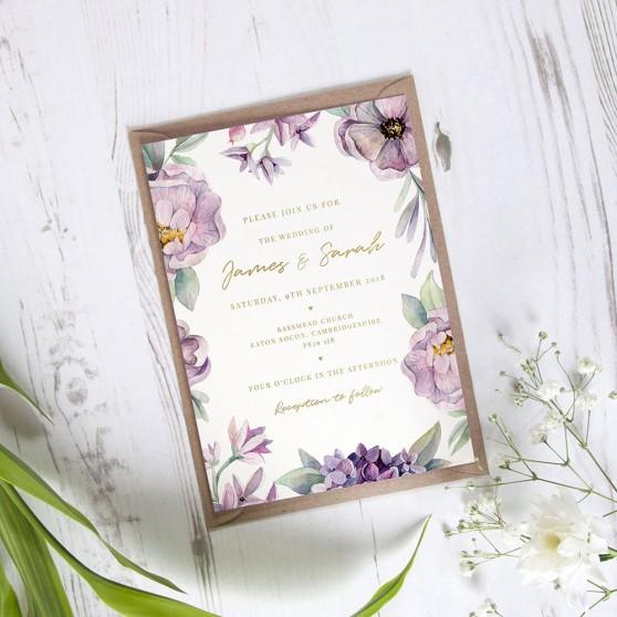 'Henrietta Dawn' Standard Foil Invite