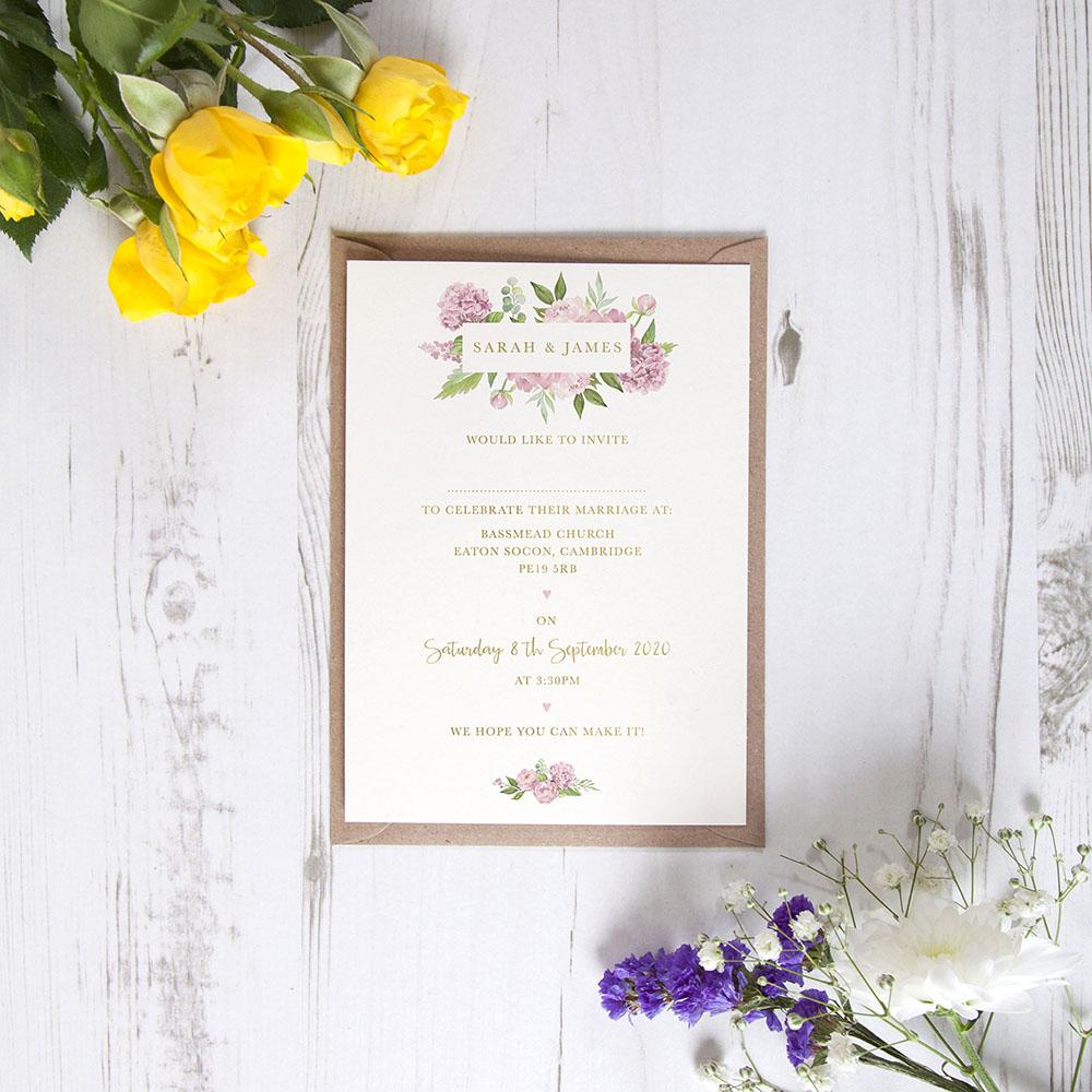 'Hydrangea' Standard Foil Invite